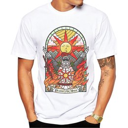 Wholesale Vintage Tee Shirt Designs - Fashion Church of the Sun Design Men T-shirt Short Sleeve Customized t shirts Prise The Sun Vintage Printed Hipster tee Shirts