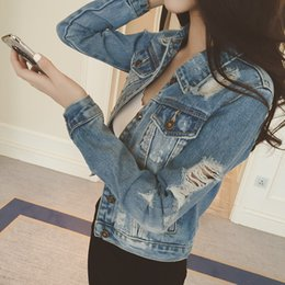 Wholesale Plus Size Jean Jackets - New Fashion Arrival Women Denim Jackets Vintage Casual Coat Female Jean Outerwear Women Basic Coats Plus Size Jaqueta Feminina