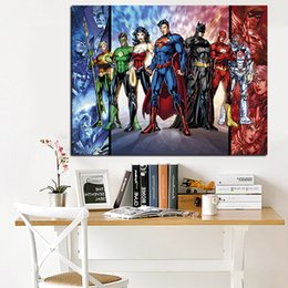 Wholesale Cartoon Pictures For Kids Room - Modern Movie Art Cartoon DC Comics Painting Print on Canvas Modern Wall Pop Giclee Art Picture for Kid Room Poster Cuadros Decor