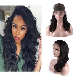 parrucche per capelli naturali per afro-americani Sconti Parrucche glueless della parte anteriore del pizzo della linea sottile naturale di Wave Wave per le parrucche dei capelli umani delle donne degli afroamericani con i capelli del bambino 12-24 di calore resistenti al calore
