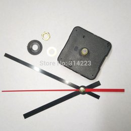 Wholesale clock parts wholesale - Free Shipping 10pcs New Quartz Clock Movement For Clock Mechanism Repair Diy Clock Parts Accessories Shaft 20mm Jx005