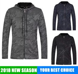 Wholesale Red Camo Shirts - NEW UA with zip clothes CAMO Style Man hoodies Sweatshirts Trendy jacket Shirt Hip Hop Sport Sweater Coat cap zipping camouflaged HOT