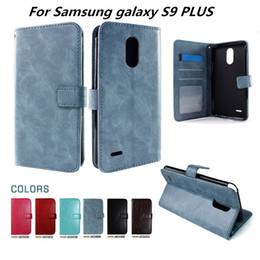 Wholesale inside bag - Wallet Case For Samsung galaxy S9 PLUS For Samsung galaxy J2 Pro 2018 inside Photo Frame Card Slots with stand opp bags C