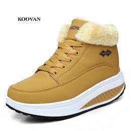 Balanço de veludo on-line-Koovan Inverno Mulheres Swing Shoe 2017 Botas de Neve Curtas Grosso Slope Quente Com Velvet Estudantes Estudantes Não-slip Meninas Algodão Sapatos