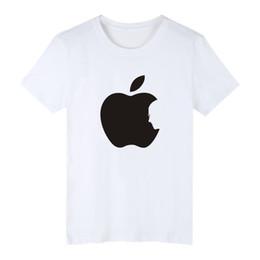 Vendita calda Apple Steve Jobs Tee in cotone nero Plus Size 4XL T-shirt manica corta Uomo in moda Mordere Apple Funny T-shirt XXS cheap apple tea da tè di mele fornitori