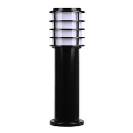 Giardino a energia solare per esterni a LED Luce da prato a prova di luce Colatura a prova d'acqua Diffusore in alluminio acrilico bianco Paralume solare da