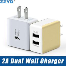 ZZYD 5 V 2.1A Double USB Chargeur Murale USB Power Adapter Portable Charge Pour iP 7 8 X Samsung Note8 ? partir de fabricateur