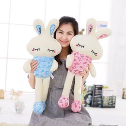 Wholesale wholesale plush bunnies - 75cm LED Glowing Easter Bunny Doll Plush Rabbit Cute Stuffed Toys Colorful Bunny Light Plush Toys Girls' Valentine's Day Gifts CCA8901 20pcs