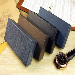 Wholesale Wholesale Brown Gift Boxes - Wholesale free shipping fashion brand Unique designer brown jewelry blue gift classic elegant leather strap watch box matrix boxes packaging