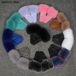2019 настоящие кожаные перчатки Jancoco Max* 10 Colours 2018 Genuine Leather Glove New Arrival Real Sheepskin & Fox Fur Gloves Women's Fashion Style S7200 дешево настоящие кожаные перчатки