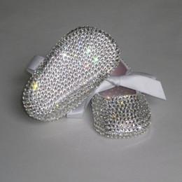 2019 chaussures Personnalisé Sparkle Bling pacifier sur cristaux Swal Strass Chaussures bébé infantile 0-1Y ruban Princesse satin bella Ballerina chaussures promotion chaussures