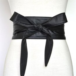 Wholesale Wholesale Streamer Bows - The New Women Fashion Belt Autumn and Winter Version Belts Streamers Bow Tie Waist Seal Custom Made