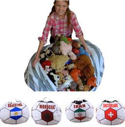 Большие раковины онлайн-Большой размер 26 дюймов Кубок мира пляжная сумка сетка shell сумка игрушки сумки для хранения сумка портативный складной игрушки дети рюкзак T1I348