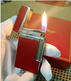 Wholesale Red Cigarette Lighter - Copper core Red Limited Edition bright sound gas lighter New in box Free shipping