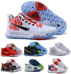 Wholesale Cheap Stretch Lace Fabric - 2017 Kyrie 3 Basketball Shoes Men Cheap Red Crossover Huarache Cavs Kyrie Irving 3s III Basketball Sports Shoes Original Sneakers Size 36-46