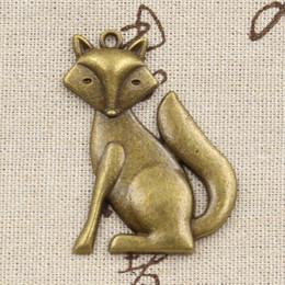 Wholesale Antique Fox Pendant - whole sale2pcs Charms fox 50*37mm Antique Making pendant fit,Vintage Tibetan bronze,DIY bracelet necklace