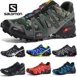 Zapatos través funcionamiento de velocidad online-Salomon Speed Cross 3 CS Hombres Mujeres Zapatos para correr al aire libre SpeedCross Run Negro Verde Rojo Azul Diseñador Trainer Mens Sport Sneaker tamaño 36-46
