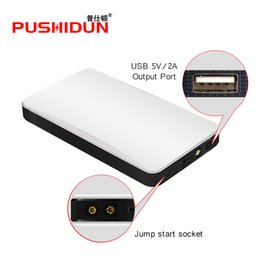 Wholesale lithium charger 12v - PUSHIDUN-K21 Portable Car Jump Starter Auto Engine Emergency Starter Lithium Battery with Smart Cable Charger Mobile Power Bank
