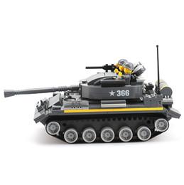 Wholesale Military Toys Tanks - Military War Weapon Armed 366 Tank Blocks 360pcs Bricks Building Blocks Sets Models Educational Toys For Children