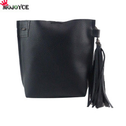 Wholesale Wholesale Women Leather Suits - New Fashion PU Leather Barrel Bag Tassel Crossbody Bag Dinner Party Clutch Mini style suit for multi occasions