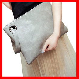 Wholesale Deep Cell - women's clutch bag leather women envelope bag clutch evening bag Fashion solid Hot 2018 female Clutches Handbag Immediately