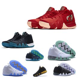 Wholesale Basketball Player Shoes - All-star Kyrie Irving 4 Basketball Shoes for Best quality Kyrie4 Men's Kyrie 4s Purple fashion core Black White Sports Sneakers good player