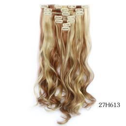 extensões de cabelo loiras Desconto Marrom loira em destaque # 27/613 7 pçs / set 22