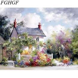 Acrílico pintura paisajes marinos online-FGHGF paisaje marino sin marco diy pintura digital por números acrílico imagen pintura en la lona arte de la pared decoración para el hogar