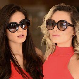 Nuevo 2018 Marca de Moda TOM Gafas de Sol Mujeres Diseñador de La Vendimia Ronda T Gafas de Sol Mujeres Gafas Gradiente Marco Shades Hombres Oculos desde fabricantes
