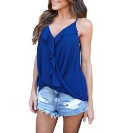c17510eaf156 ruffle chemise Promo Codes - 2018 Ruffle Chiffon Blouse Summer Tops Women  Blouses Blusas Feminina Chemise