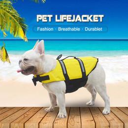 Ropa de perro pequeño xxs online-EEUU Nuevo Pequeño ropa para perros de verano chalecos de seguridad reflectantes para perros mascotas Yorkshire Terrier Camiseta La vida del perro del impermeable Jacke Xxs -XXL