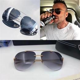 Rahmenlose brille titan online-Top luxus K gold männer eyewear auto marke Maybach designer gläser Pilot titanium-frameless top menge outdoor uv400 sonnenbrille