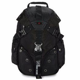 """Sacchetti svizzeri del computer portatile online-Swiss 14F Army Travel Bags Zaino per laptop 15.6 """"Tessuto impermeabile scolastico multifunzionale"""