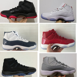 Wholesale nylon lacing - With box 11s Platinum Tint Mens basketball shoes Prom Night Midnight Navy Gym Red Sneakers 11 Women Outdoor Athletic Trainers size 36-47