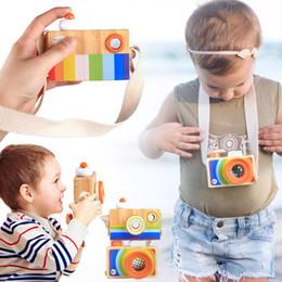 Портативный Ребенок Дети Деревянная Камера Игрушки Калейдоскоп Объектив Изображения Притворяясь Игрушки от