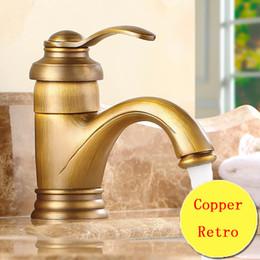 Wholesale Vintage Toilets - Retro teapot style toilet basin faucet vintage, Copper bathroom basin faucet hot and cold, Antique brass kitchen