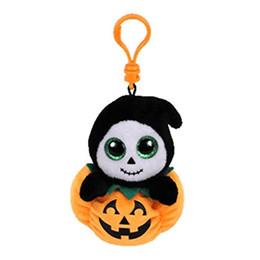 """Canada Ty Beanie Boos 4 """"10cm pince porte-clés pingouin Halloween en peluche en peluche à collectionner Big Eyes poupée jouets pour enfants Offre"""