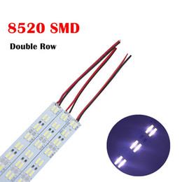 duro industrial Rebajas Best2011 Double Row LED Strip 8520 SMD Hard BAR Luz DC12V 120leds / m rígida LED Strip Light Cool White