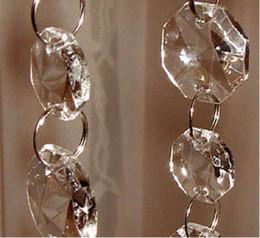 Anéis de casamento de 14mm on-line-Guirlanda de cristal / Strand 10 metros / lote, 14mm Octagon Cristal Beads conectados com anéis de 12mm para decorações de casamento