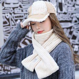91d50675e3b96a Woolen Winter Hut Schal Handschuhe Set Winter Hüte gestrickte Mützen und  Schal 2 Stück für Frauen Mädchen warme Mützen Ring Pompoms günstige wollmütze  schal ...