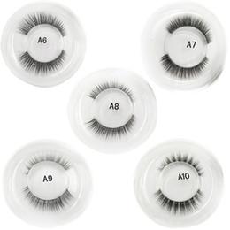Wholesale finest hair - 1 Pair Baby Hair-like Series False Eyelashes Super Soft Transparent Stem Nude Makeup Soft Fine Fake Eyelashes 3001216