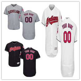 Wholesale indian names - custom Men's women youth Majestic Indians Jersey #00 Any Your name and your number Home Nary Blue Kids Girls Throwback Baseball Jerseys
