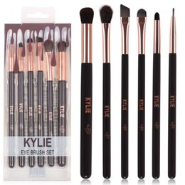 Wholesale facial hair brushes - Kylie Jenner Cosmetics 5pcs 6pcs Makeup Brushes Sets Facial Highlighter Make Up Brush Maquiagem Kit