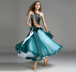 Wholesale Tango Dresses For Dance - Long Standard ballroom Contemporary modern dance competition dress for adults women Samba waltz tango dress MD02