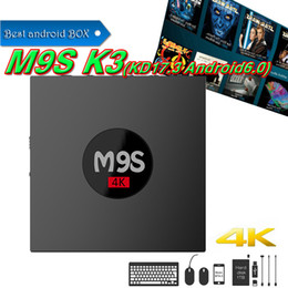 Wholesale Play Install - RK3229 M9S K3 android 6.0 tv boxes KDplayer 17.3 installed 4K HDR H.265 HEVC 3D Movies play 1GB 8GB WIFI Internet TV Box VS MXQ PRO S905W