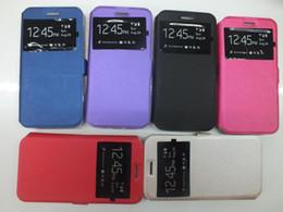 Flip cover open window galaxy en Ligne-Etui en cuir pour Samsung Galaxy S3 I9300 S4 I9500 S5 G900 S6 G920 S Duos S7562 S7580 J1 mini J105 J1 Nxt Fenêtre support ouvert Flip Cover