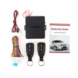Wholesale Car Central Lock System - Universal Alarm Systems Car Auto Remote Central Kit Door Lock Locking Vehicle Keyless Entry System New With Remote Controllers