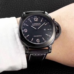 Wholesale Luminous Watches For Men - 2018 high quality Big dial luxury brand sports Watches For men quartz Watch Fashion leather Men's Military watch Automatic date montre homme
