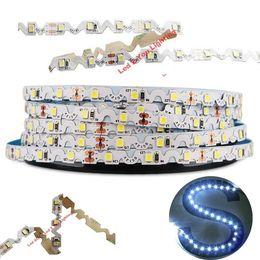 luzes led para letras de canal Desconto Dobre Livremente Levou Luz Tiras 12 V 2835 IP20 Em Forma de S Flexível LEVOU Faixa de Luz Canal Letras Luz de Fundo 5 m / roll 60LEDs / m