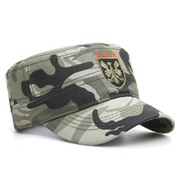 c85afe9efb7 Influx of wild young men and women quality cotton army cap simple casual flat  top men s bone adjustable size code cap